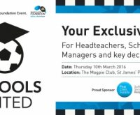 Exclusive 'schools united' event!