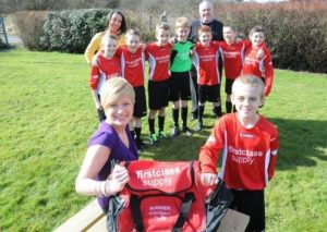 First Class Supply sponsor local Footie Team!