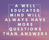 Here's to more questions…..