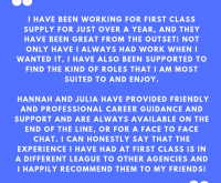 Feedback from one of our lovely Teaching Assistants…