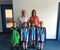 Fantastic new football kit = very happy pupils!