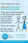 Teaching Assistants, LSA's and Nursery Nurses urgently needed!