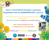 Lovely news from St Oswald's about Elmer's Great North Parade