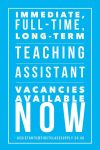 TAs, Nursery Nurses, One to One and SEN Specialists …… we still need you!