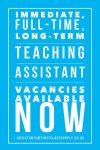 TAs, Nursery Nurses, One:One and SEN Specialists – we need you!!