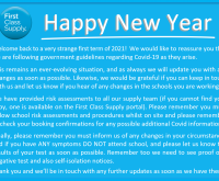 HAPPY NEW YEAR ….. AND AN UPDATE RE COVID
