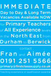 Primary and Early Years Teachers – we need you!