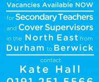 Secondary Teachers – we need you!