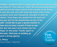 Another lovely testimonial!